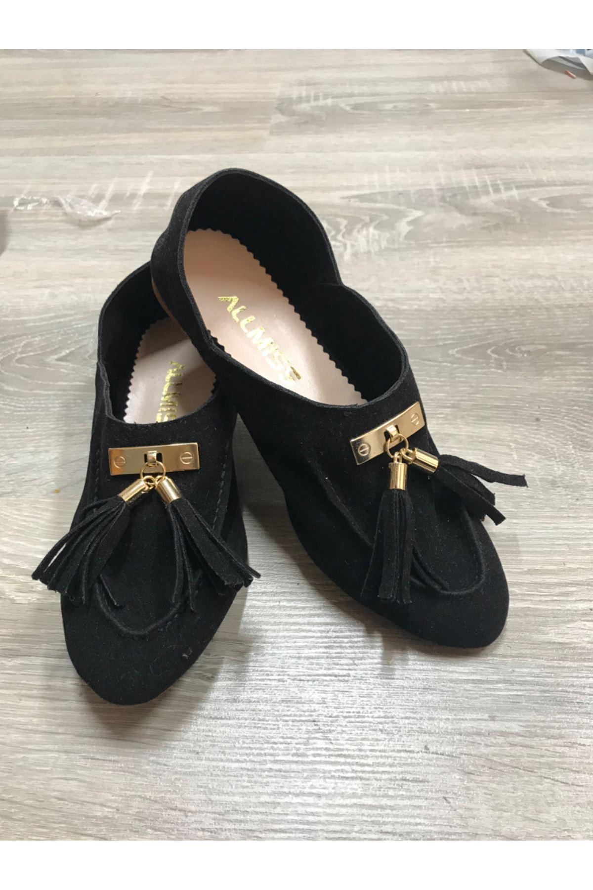 Babet ayakkabı - Siyah