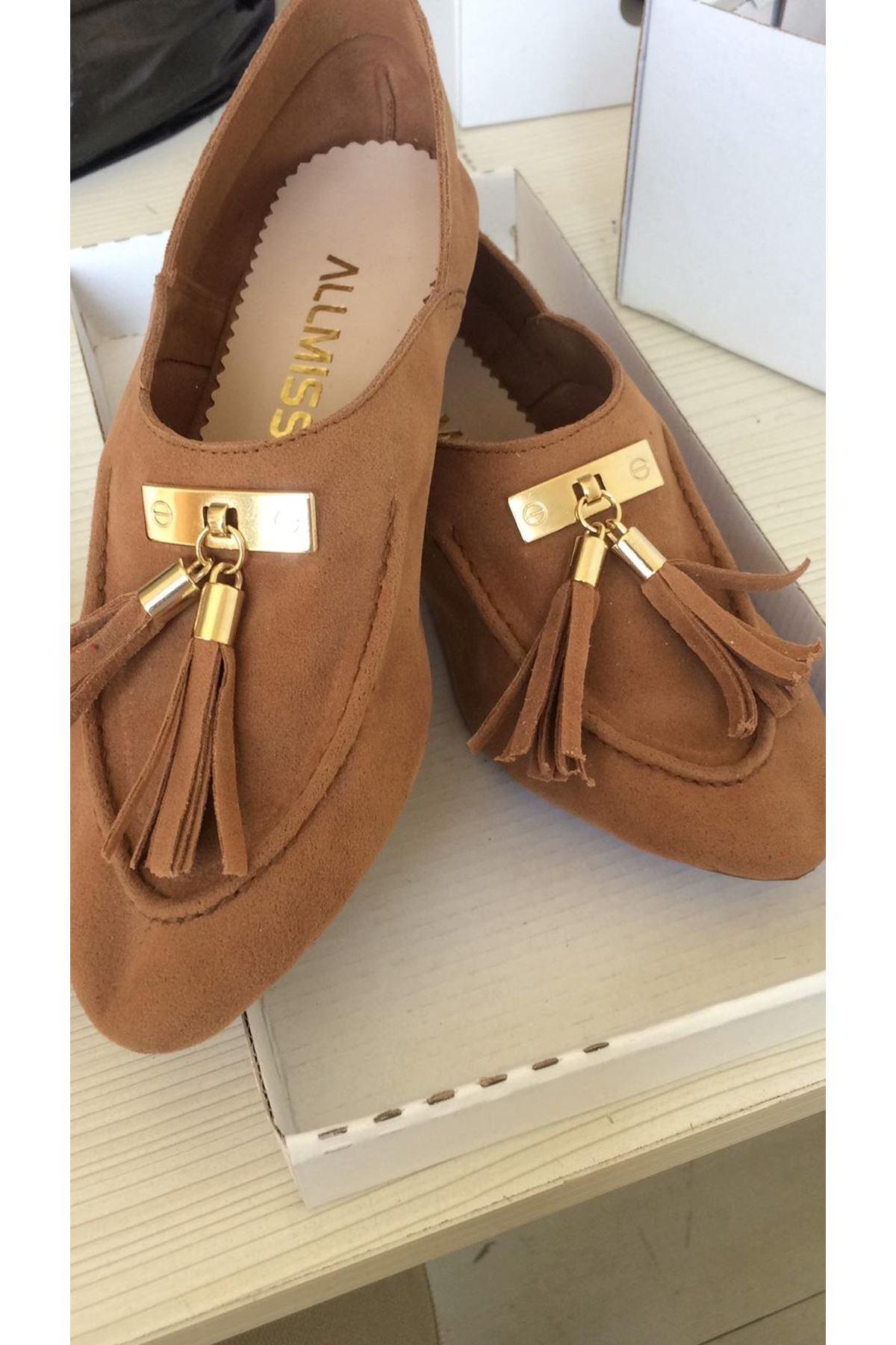 Babet ayakkabı - Taba