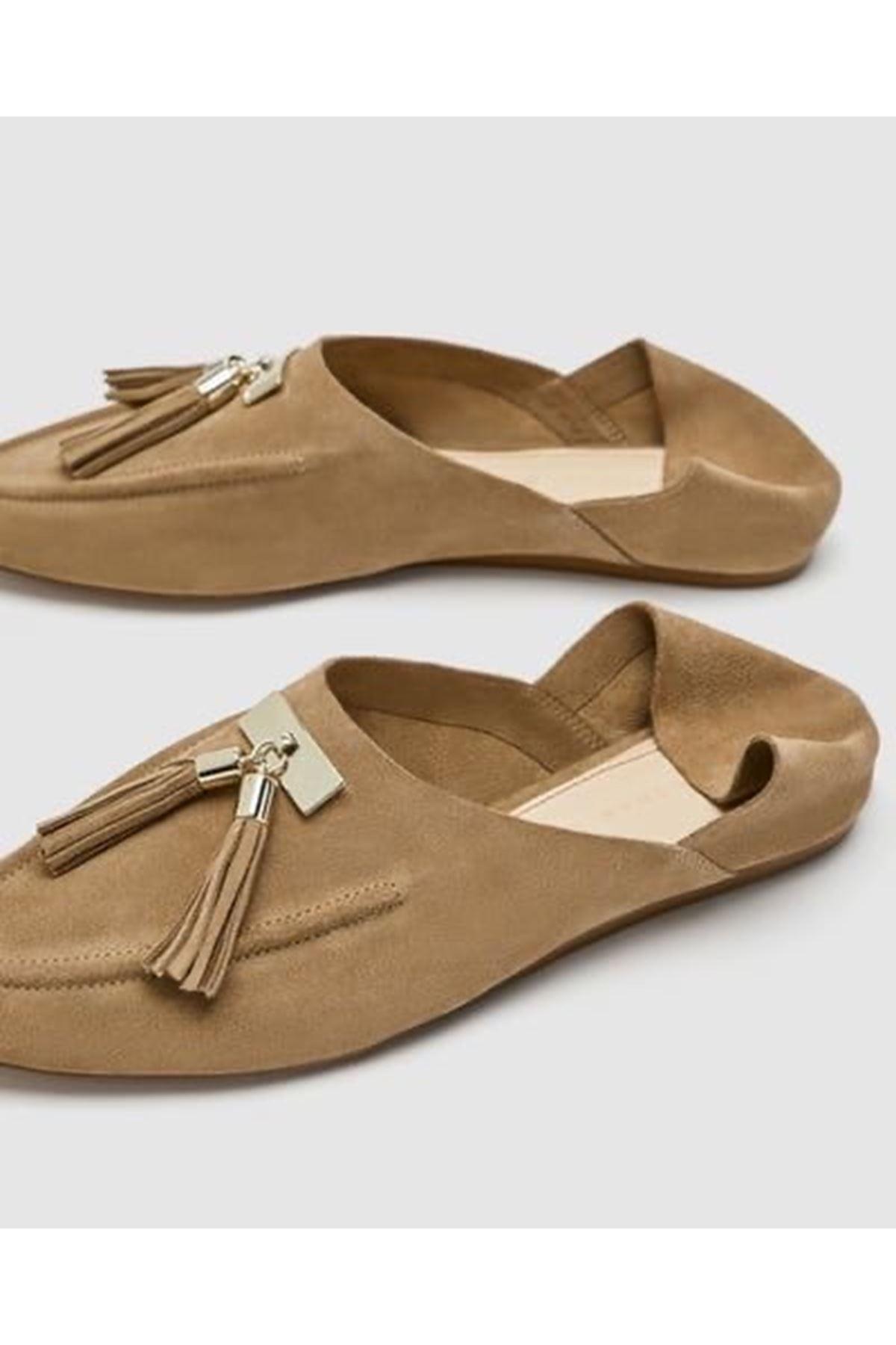 Babet ayakkabı - Vizon