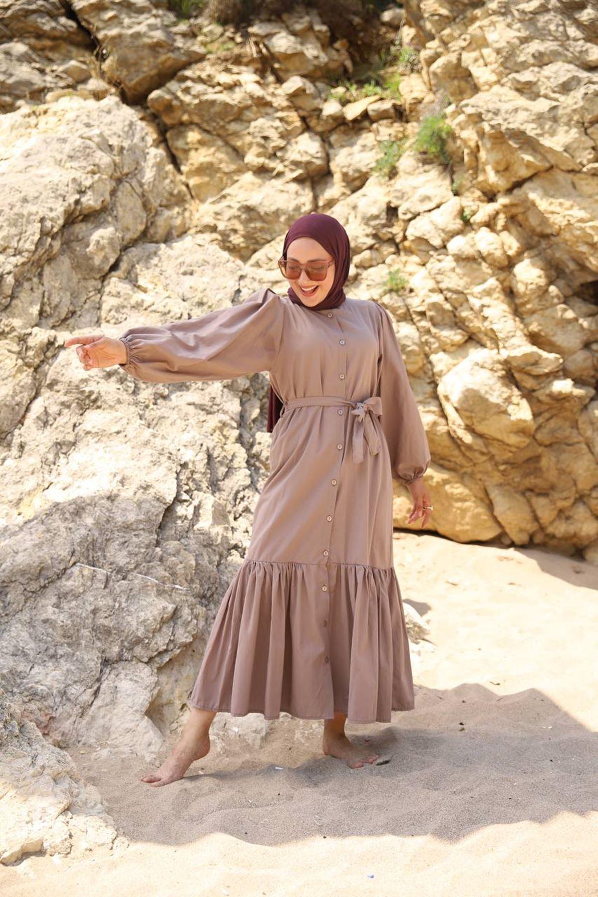 Mila elbise - vizon