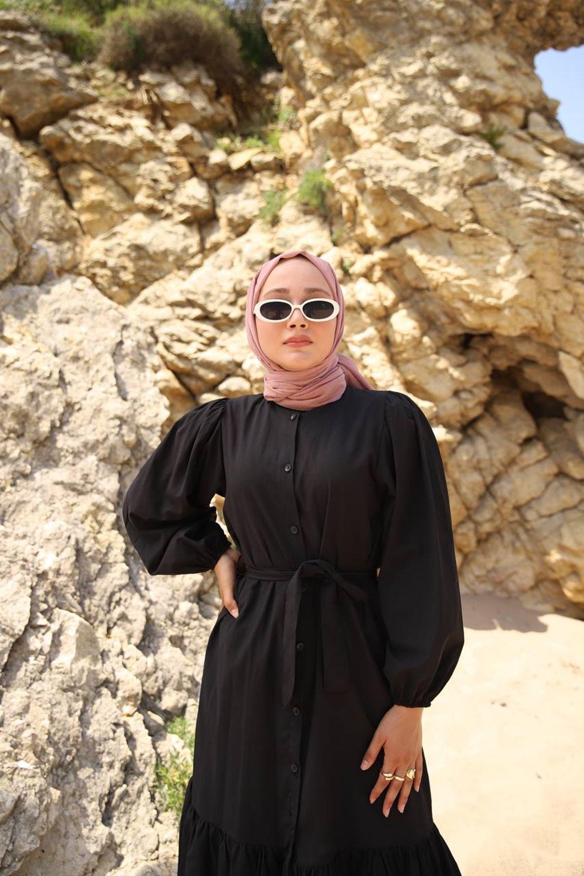 Mila elbise - siyah