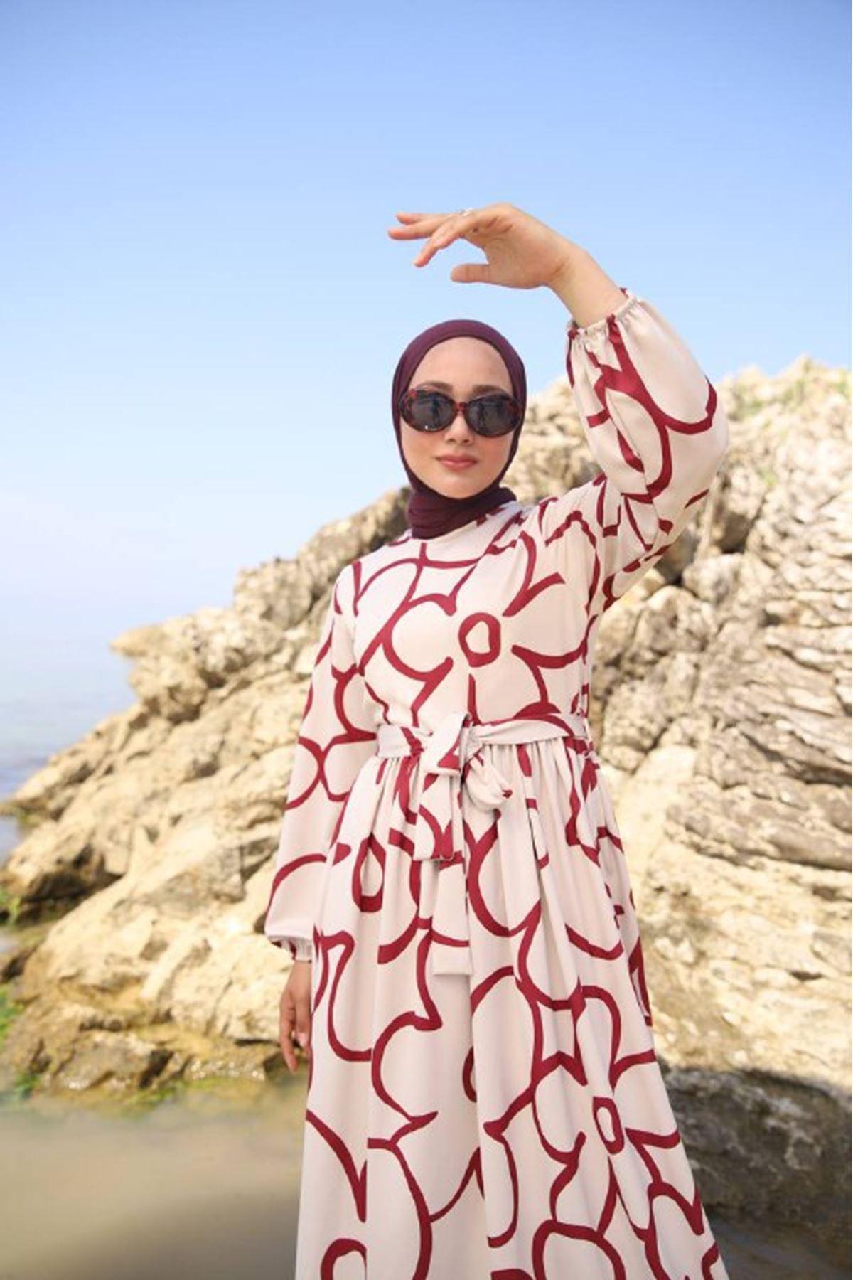 Papatya elbise - kırmızı