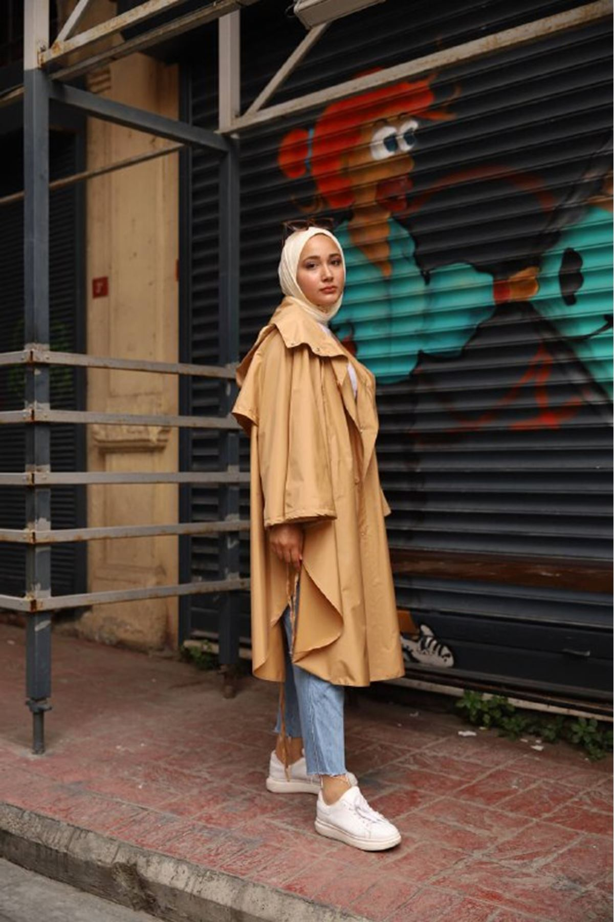 pelerin trenç - camel