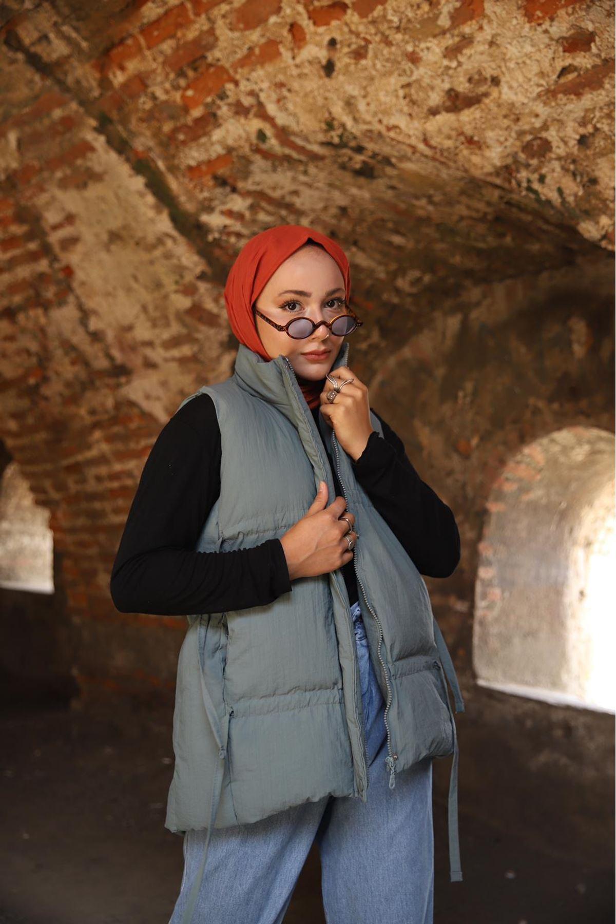Rika Yelek  - yeşil