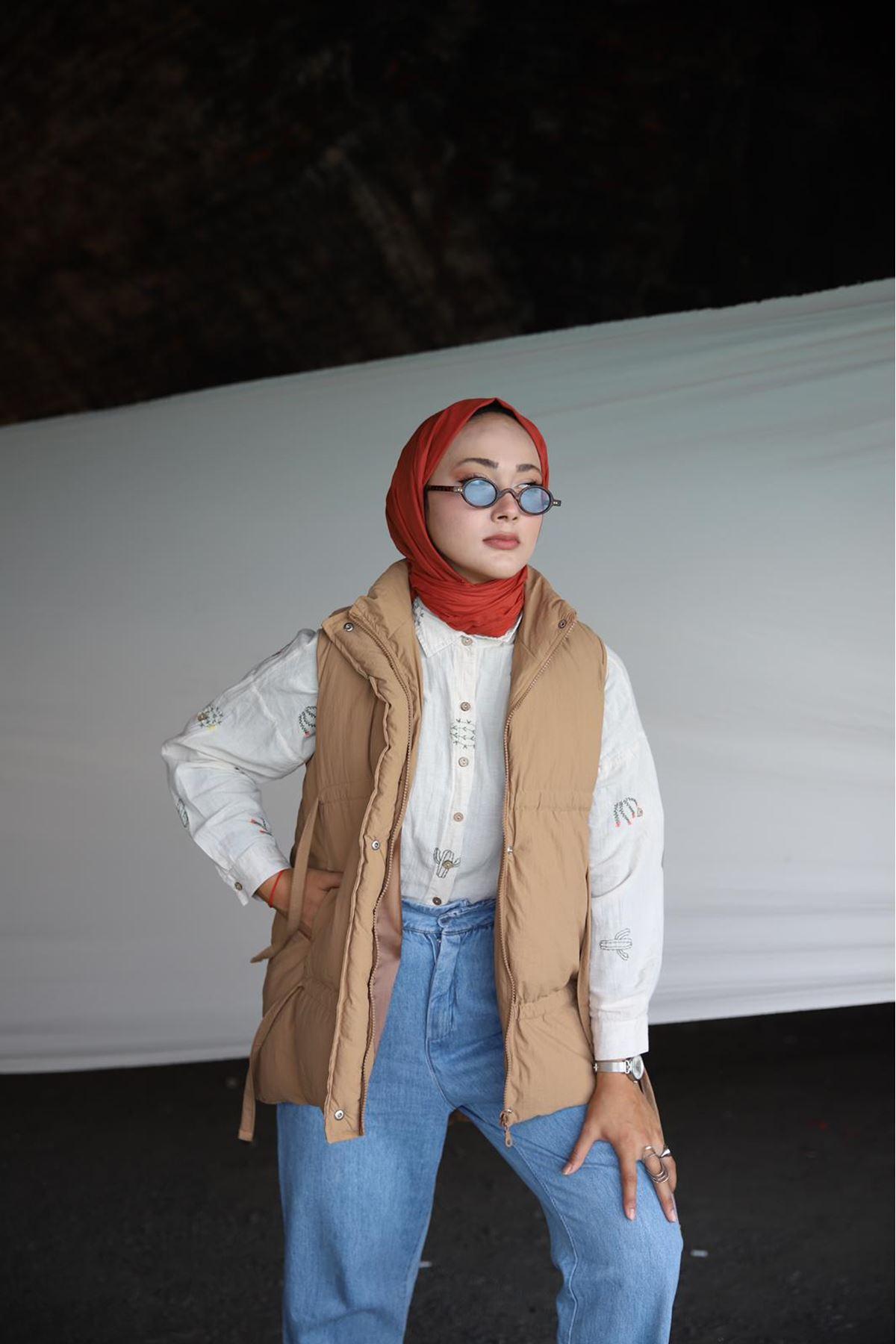Rika Yelek  - camel